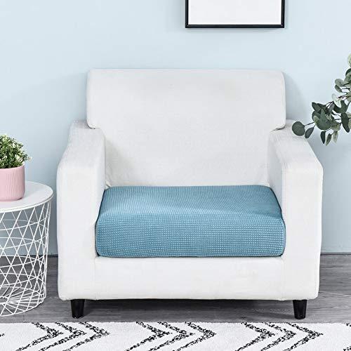 Funda de sofá Color sólido Protector Funiture Jacquard Grueso del sofá cojín del sofá Fundas de colchón Asiento Protector Funda elástica (Color :, Specification : 1pc Enlarge Size 4)