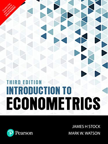 Compare Textbook Prices for Introduction to Econometrics 3rd Edition ISBN 9789352863501 by H Stock James & W. Watson Mark