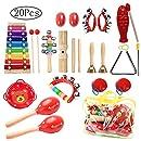 Juguetes de Instrumentos Musicales para Niños, 20 piezas Juguetes Musicales de Percusion para Bebes, Niños y Niñas Regalos de Cumpleaños y Navidad Juegos ...