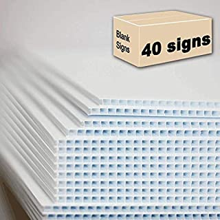 40 Blank Signs White 18