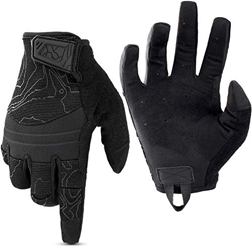 WPTCAL Shooting Gloves Touch Screen Full Dexterity Tactical Gloves Garden Full Finger Gloves for Operating Work Hunting Hiking SportsBlack XL