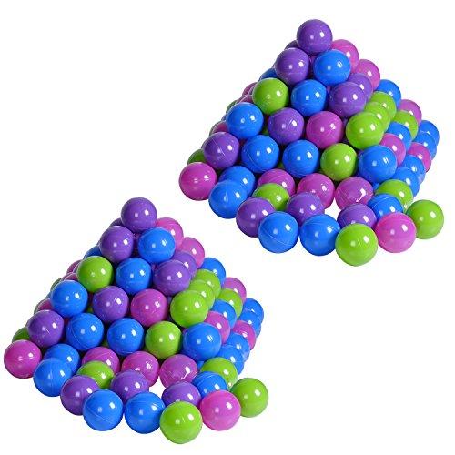 Knorrtoys 56778 -. Bolas de plástico para baño, 200 PC, 6 cm, Colores Pastel, no contienen plastificantes perjudiciales