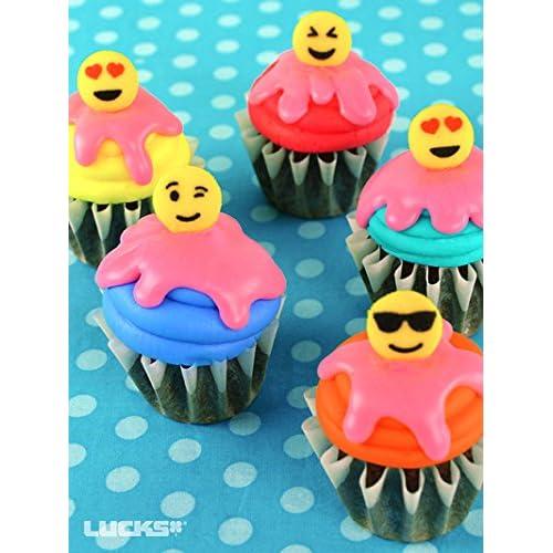 party favor cake topper 2 dozen 24 Emoticons Emoji cupcake rings