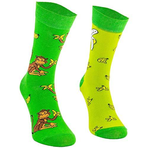 COMODO - 3 Paires de Chaussettes drôles Unisexes | en Coton | 001. | 3 Paires | Tortuga | Size: 39-42