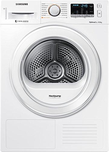 Samsung DV80M5210IW Independiente Carga frontal 8kg A+++ Blanco - Secadora (Independiente, Carga frontal, Bomba de calor, Blanco, Botones, Giratorio, 115 L)