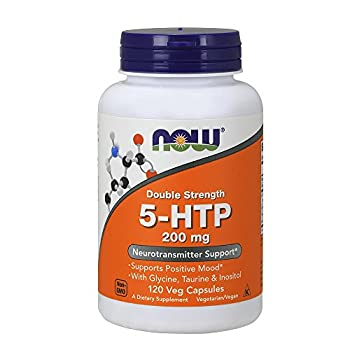 NOW Supplements 5-HTP  5-hydroxytryptophan  200 mg Double Strength Neurotransmitter Support* 120 Veg Capsules