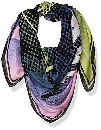 Armani Exchange AX Damen Niemeyer Print Logo Viscose Scarf Modischer Schal, Einheitsgröße