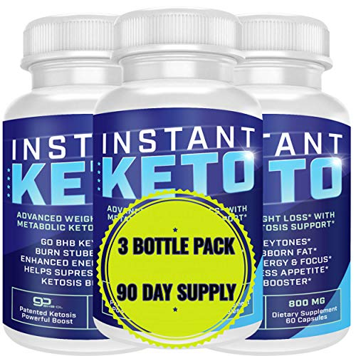 Instant Keto - Advanced Weight Loss with Metabolic Ketosis Support - 800MG - 180 Pills - 90 Day Supply 1