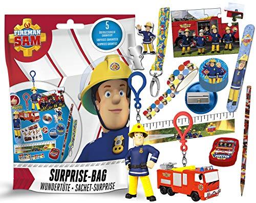 Craze Surprise Bag Feuerwehrmann Sam Überraschungstüte mit Zubehör Schlüsselanhänger Schulzubehör Wundertüte 24010