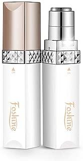 Foshine Depiladora Facial Mujer Portátil Afeitadora Mujer Soft Touch Depiladora (Depiladora Facial Blanca)