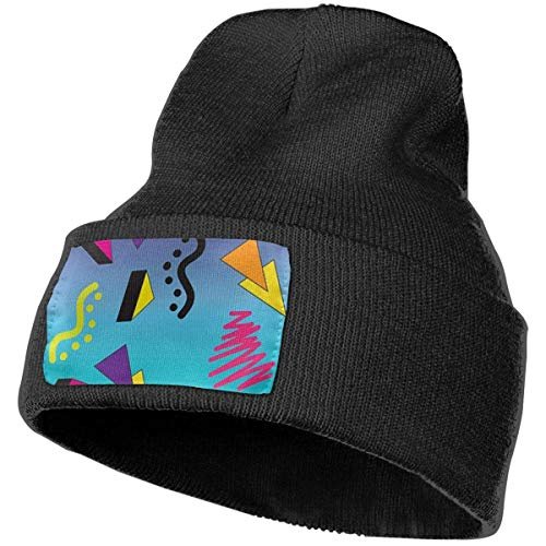 AEMAPE Unisex Beanie Hat 80s Memphis Knit Hat Cap Skull Cap