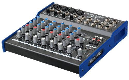 Pronomic M-802FX Live/Studio Mischpult mit digitalem 24bit Multieffektprozessor (4 Mono-Kanäle XLR/Klinke, 2-Stereo Kanäle, 3-Band-EQ, 48V Phantomspeisung)