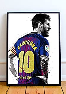 Lionel Messi Limited Poster Artwork - Professional Wall Art Merchandise (More Sizes Available) (8x10)