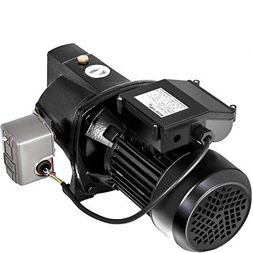 Happybuy Shallow Well Jet Pump with Pressure Switch 1HP Jet Water Pump 216.5 ft Cast Iron Jet Pump to Supply Fresh ell Water to Residential Homes Farms Cabins