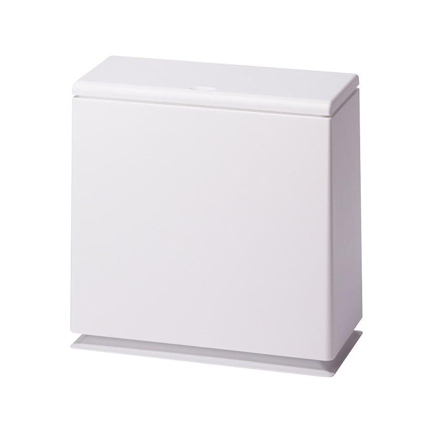 バラバラにする溝スキーイデアコ フタ付ゴミ箱 チューブラー キッチン フラップ ホワイト
