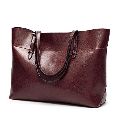 AILEESE Womens Soft lederen handtassen grote capaciteit retro vintage topgreep nonchalante shopper tassen