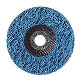 Goldyqin Rueda de Disco de Tira de Poli Duradera 100 * 16 mm Eliminación de óxido de Pintura de Metal de Madera Herramientas abrasivas limpias para Amoladora Angular Mayitr - Azul