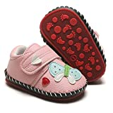 HsdsBebe Baby Boys Girls Pu Leather Hard Bottom Walking Sneakers...