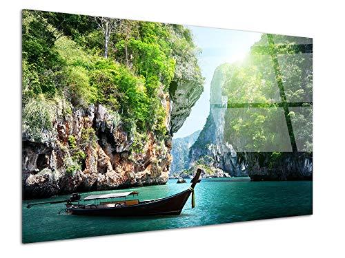 DECLINA - Cuadro plexiglás, decoración de Pared, plexiglás, Cuadro Cristal acrílico, Pizarra de plexiglás, decoración de Playa Thailande, 50 x 30 cm