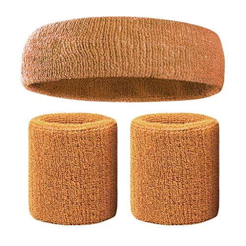 unkonw Bandas deportivas para la cabeza y las pulseras de las mujeres de los hombres del gimnasio, entrenamiento, fitness, yoga