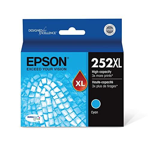 EPSON T252 DURABrite Ultra Ink High Capacity Cyan Cartridge (T252XL220-S) for select Epson WorkForce Printers