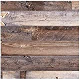 Centennial Woods Reclaimed Wood Planks, Gray/Cinnamon/Brown Wooden Wall Planks, Cody Finish, 20 Square Feet