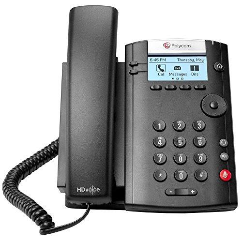 Polycom VVX 201 2-Line PoE Business Media Phone (2200-40450-025) - Power Supply Not Included