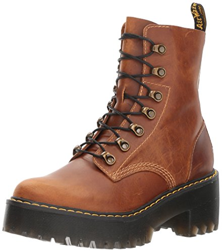 Dr. Martens Data is Correct Leona Fashion Boot, Butterscotch Orleans, 9