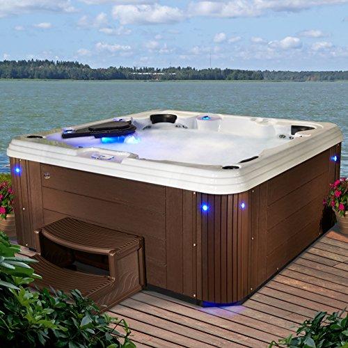 Essential Hot Tubs 67-Jet Syracuse Hot Tub, Seats 5-6, Espresso