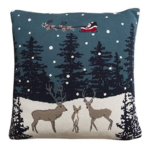 Sophie Allport Home for Christmas Knitted Cushion