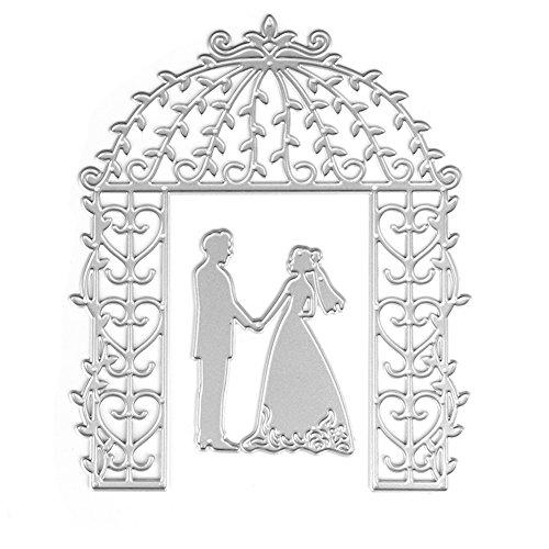 WuLi77❤ Braut Bräutigam Stanzschablone für Hochzeiten, zum Basteln von Karten, Prägeschablone für Scrapbooking DIY Album Papier Karte Kunst Basteln Dekoration