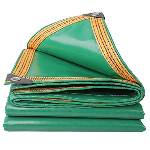 YCSD Heavy Duty Tarpaulin Sheet Cover 350g/m² 100% Waterproof Weather Resistant Tarp Multi-Purpose(Size:4x6m)