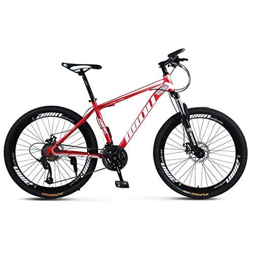 AISHFP Propósito General Mujer Hombre Bicicleta de montaña, Motos de Nieve Playa de Bicicletas, Bicicletas de Doble Freno de Disco para Adultos, de 26 Pulgadas de aleación de Aluminio Ruedas