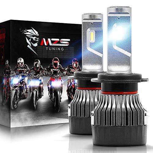 MZS Mini Lampadine H7 LED per Moto,10000LM 60W 6500K Fari Abbaglianti o Anabbaglianti Kit Sostituzione per Alogena Xenon Luci Lampada Bianco