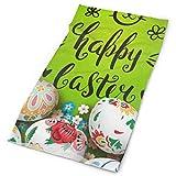 Quintion Robeson Bandeau Joyeux Vintage Pâques Mignon Lapin Fleurs Florales Oeufs en Plein Air Écharpe Cou Guêtre Tête Wrap Bandeau Sportif Chapeaux