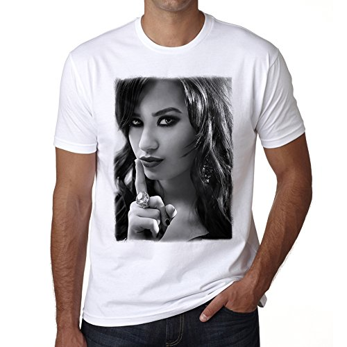 Demi Lovato H 3 Herren T-shirt - Weiß, L, t shirt herren,Geschenk