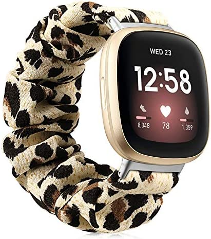 Fintie Band Compatible with Fitbit Versa 3 Fitbit Sense Scrunchie Bands Cloth Soft Pattern Printed product image