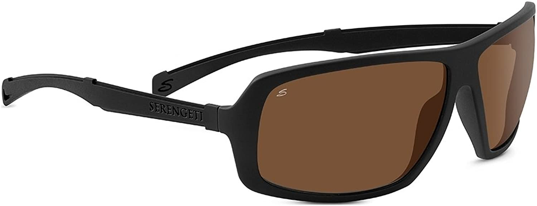 Serengeti 8101 Alassio Sunglass, Satin Dark Grey Frame, Polarized Drivers Lens