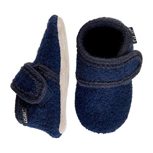 Celavi Unisex-Baby Wool Shoe Hausschuh, Dark Navy, 27 EU