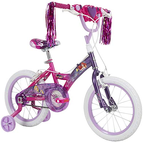 Huffy Disney Princess Kid Bike 12 inch & 16 inch, Quick Connect Assembly & Regular Assembly, Purple