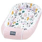 Bellochi Nido Bebe Recien Nacido Reductor de Cuna Nido para Bebe - 100% Algodón - OEKO-TEX Certificado - 90x60x12cm con Bordes Protectores - Bosque