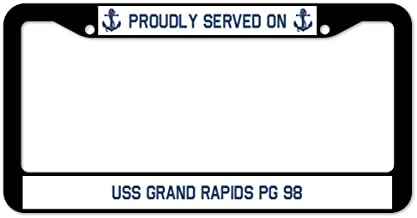 Yohoba Proudly Served On USS Grand Rapids Pg 98 License Plate Frame 12
