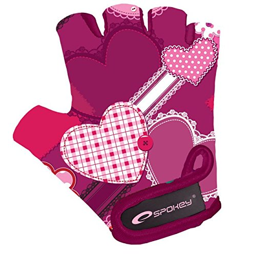 Spokey Kinder Heart Glove-Kinderfahrradhandschuhe, Xs, Mehrfarbig