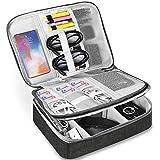HCFGS Elektronische Tasche - Doppelte Schichte Elektronik zubehör organisator - universal travel Kabel Organizer Tasche(Schwarz