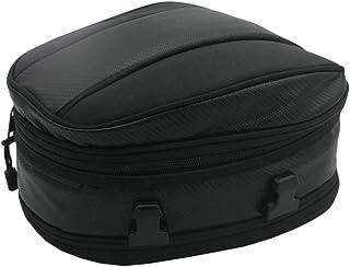 Garneck Bolsa traseira para motocicleta, bolsa para capacete de motocicleta, bolsa de bagagem para moto (preta)
