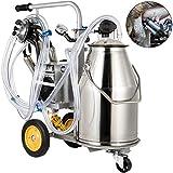 Happybuy 25L Electric Milking Machine,Milker Machine 5-8 Cows per Hour, 0.55KW...