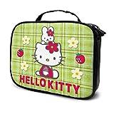 Hello Kitty - Neceser de viaje con cremallera para maquillaje, portátil, multifunción, organizador de maquillaje, bolsa de almacenamiento ajustable para mujeres y niñas con