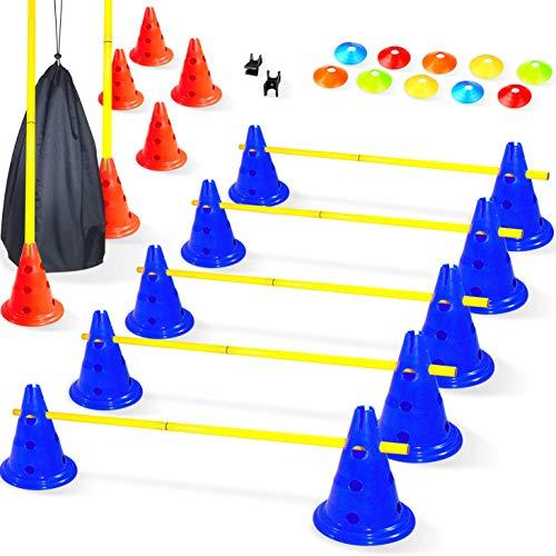 Baytiz- Haies de Coordination - Ensemble Plots + Cones + Accesoires - Parcours de Motricité Enfant,...