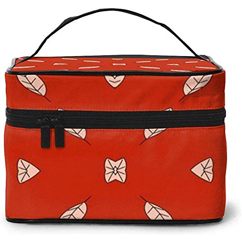 Falling Leaf Portable Ladies Travel Cosmetic Case Bag Storage Makeup Pouch Multi-Function Wash Grand Capacity Makeup Bag