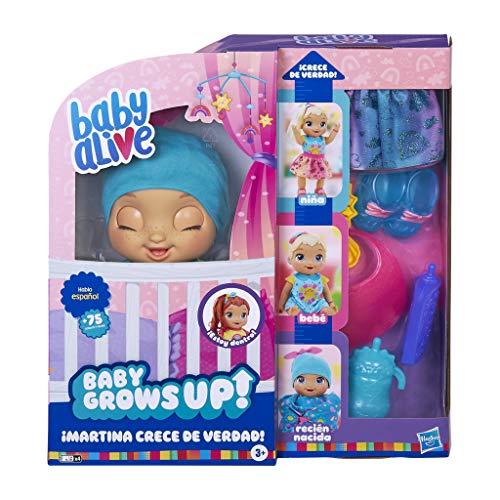Baby Alive- Martina Crece de Verdad Que Habla Español (Hasbro E8199SC1)